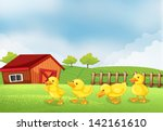 llustration of the four chicks... | Shutterstock . vector #142161610