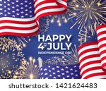 usa independence day. banner... | Shutterstock .eps vector #1421624483