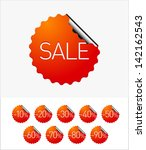 eps10 vector  sale stickers | Shutterstock .eps vector #142162543