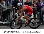 aj bell world triathlon leeds ... | Shutterstock . vector #1421628230