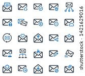 Email Icon Set  Blue Series