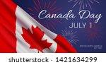 canada day  july 1  vector... | Shutterstock .eps vector #1421634299