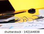 collage with business papers on ... | Shutterstock . vector #142164838