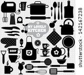 kitchen icon background. | Shutterstock .eps vector #142167238