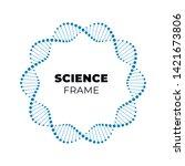 vector science dna flat banner... | Shutterstock .eps vector #1421673806
