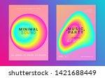 music fest set. electronic... | Shutterstock .eps vector #1421688449