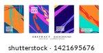 abstract universal grunge art... | Shutterstock .eps vector #1421695676