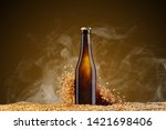 drink mockup series. brown beer ... | Shutterstock . vector #1421698406