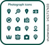 photograph icon set. 16 filled... | Shutterstock .eps vector #1421717633