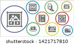 photograph icon set. 9 filled... | Shutterstock .eps vector #1421717810