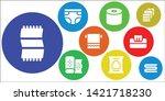 antibacterial icon set. 9... | Shutterstock .eps vector #1421718230