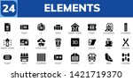 elements icon set. 24 filled... | Shutterstock .eps vector #1421719370