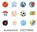 rounded  flat icons for web and ... | Shutterstock .eps vector #142172806