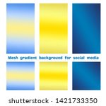 set of trendy gradient mesh... | Shutterstock .eps vector #1421733350