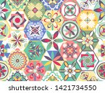 luxury oriental tile seamless... | Shutterstock .eps vector #1421734550