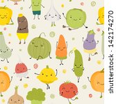 cartoon vector seamless pattern ... | Shutterstock .eps vector #142174270