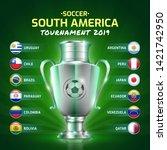 scoreboard broadcast soccer... | Shutterstock .eps vector #1421742950