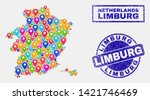 vector colorful mosaic limburg... | Shutterstock .eps vector #1421746469