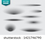 vector shadows set on... | Shutterstock .eps vector #1421746790