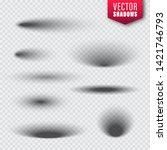 vector shadows set on... | Shutterstock .eps vector #1421746793