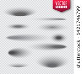 vector shadows set on... | Shutterstock .eps vector #1421746799