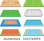 set of images of various sports ... | Shutterstock .eps vector #1421765093