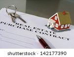 real estate purchase contract... | Shutterstock . vector #142177390