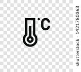 thermometer icon from... | Shutterstock .eps vector #1421780363