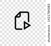 video file icon from... | Shutterstock .eps vector #1421784383