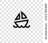 sailboat icon from... | Shutterstock .eps vector #1421784389