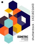 abstract isometric geometric... | Shutterstock .eps vector #1421821643
