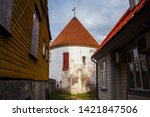 the red tower of the xv century ... | Shutterstock . vector #1421847506