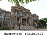 Small photo of Fort Worth, TX / US - May 2018: Fort Worth Tarrant County Courthouse