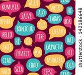 seamless pattern with speech... | Shutterstock .eps vector #142186648