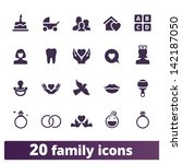 family icons  vector set of... | Shutterstock .eps vector #142187050