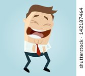 cartoon man laughing