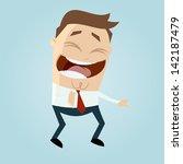 Cartoon Man Laughing At...