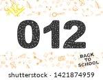 back to school. original font ... | Shutterstock .eps vector #1421874959