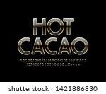 vector chci banner hot cacao.... | Shutterstock .eps vector #1421886830