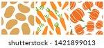 potato  carrot  pumpkin.... | Shutterstock .eps vector #1421899013
