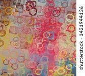 2d illustration. abstract...   Shutterstock . vector #1421944136