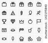 celebration icons | Shutterstock .eps vector #142195840