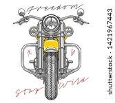 freedom stay wild slogans... | Shutterstock .eps vector #1421967443