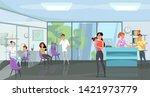 traumatology clinic flat vector ...   Shutterstock .eps vector #1421973779