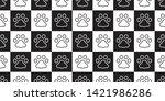 dog paw seamless pattern vector ... | Shutterstock .eps vector #1421986286