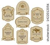 set of vintage vector labels in ... | Shutterstock .eps vector #1422012056