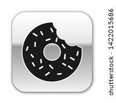 black donut with sweet glaze... | Shutterstock .eps vector #1422015686