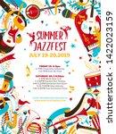 Jazz Music Night Flat Vector...