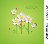 Summer Floral Background With...