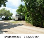 Fifth Wheel Camper Parked At A...